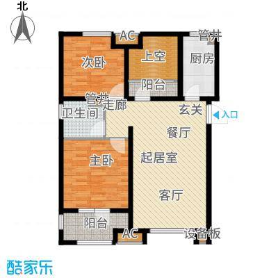 社会山201492.00㎡高层标准层C1户型2室2厅