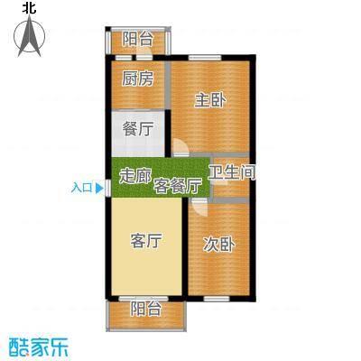 江城之珠户型2室1厅