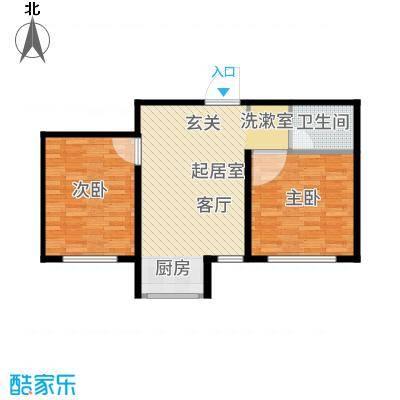 青旅福润家园68.50㎡A高层户型2室1厅