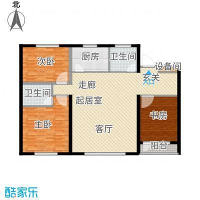 青旅福润家园126.00㎡C高层户型2室2厅