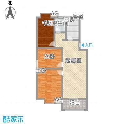 一品和�17.00㎡二期16#、17#楼F户型3室2厅1卫1厨