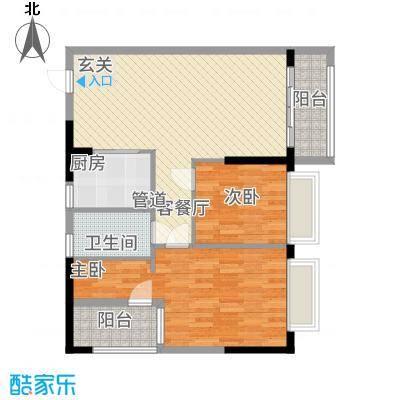 南国豪苑87.00㎡A区3、4幢0户型2室2厅1卫1厨