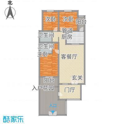 万泰・滨湖新城12.64㎡户型3室2厅2卫1厨