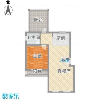 万泰・滨湖新城67.24㎡户型1室2厅1卫1厨