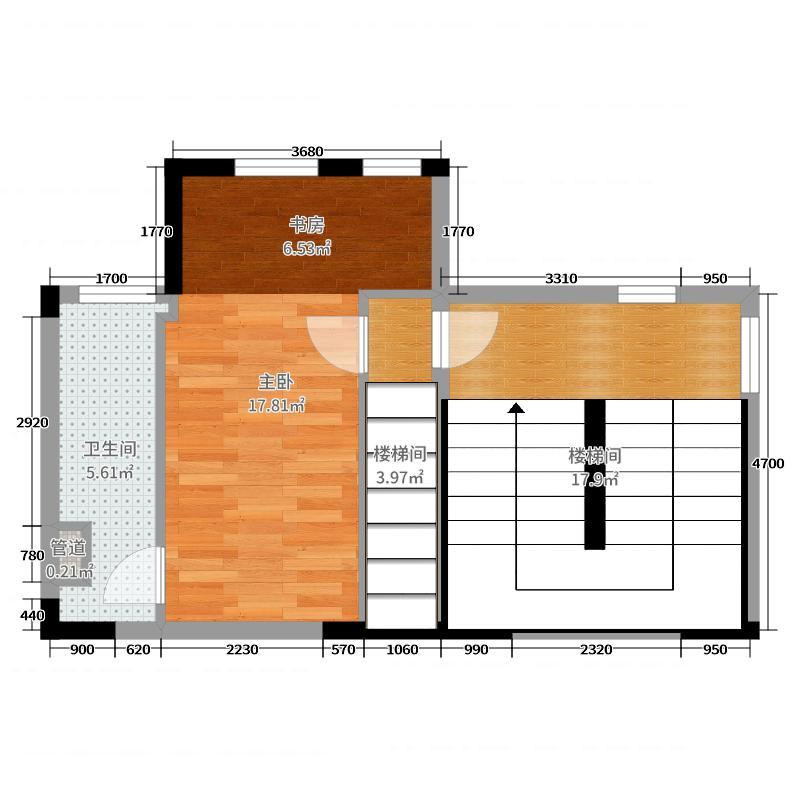岭南天地・�Z轩237.00㎡三叠201三层户型4室4厅3卫1厨