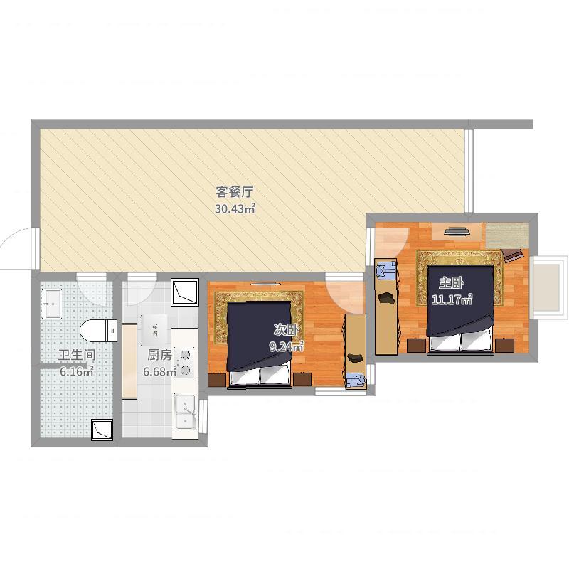 平顶山_神马工程塑料高层3号楼A2户型_2016-01-03-1148