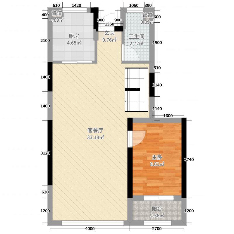 东辰紫金湾120.00㎡一期D3栋B1F户型3室3厅2卫1厨