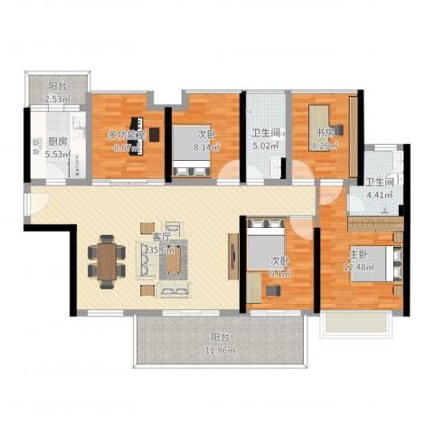 中洲天御4室1厅2卫1厨140.00㎡户型图
