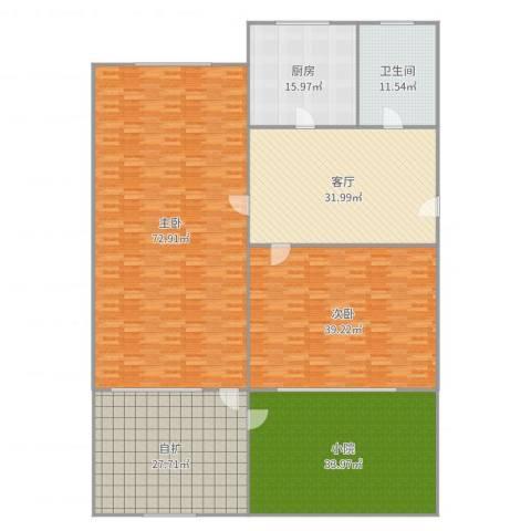 柏林南区2室1厅1卫1厨292.00㎡户型图
