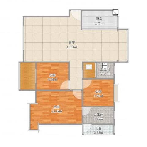 安鑫雅婷13-1-602顾绍花139790559853室1厅2卫1厨119.00㎡户型图