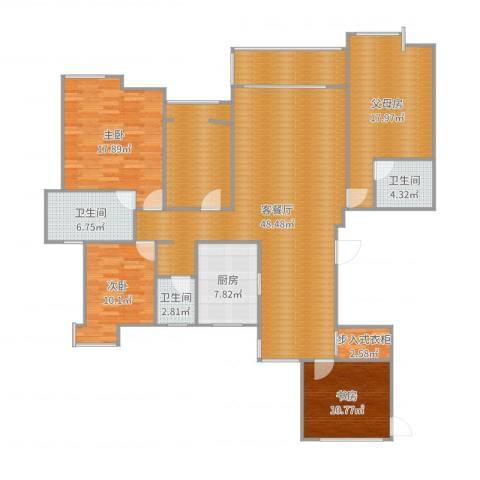 世茂世界湾3室2厅3卫1厨183.00㎡户型图