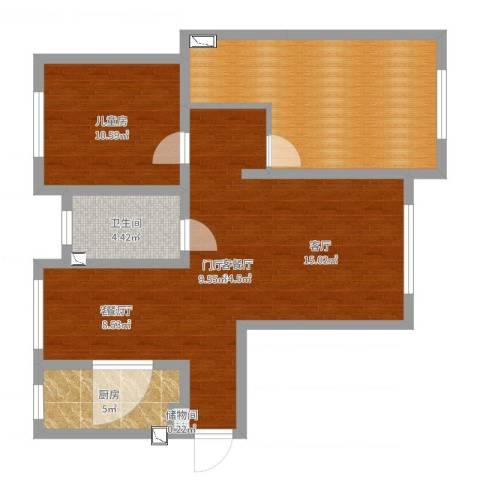 威廉公馆1室2厅1卫1厨89.00㎡户型图