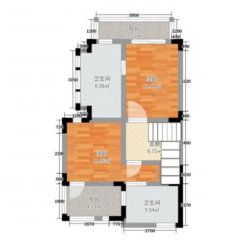 彩云之南大理王宫2室0厅2卫0厨116.00㎡户型图
