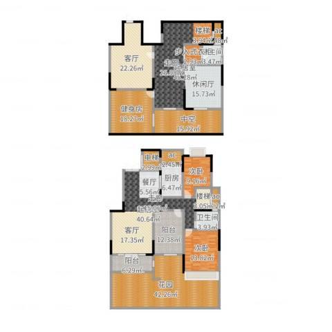 金科王府2室1厅2卫1厨314.00㎡户型图