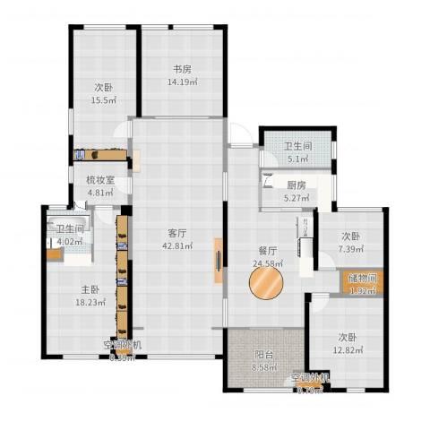 百大康桥5室2厅2卫1厨208.00㎡户型图