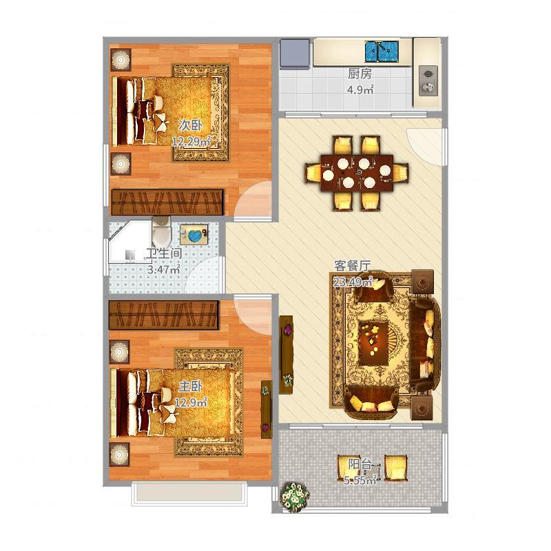 紫荆公寓96平
