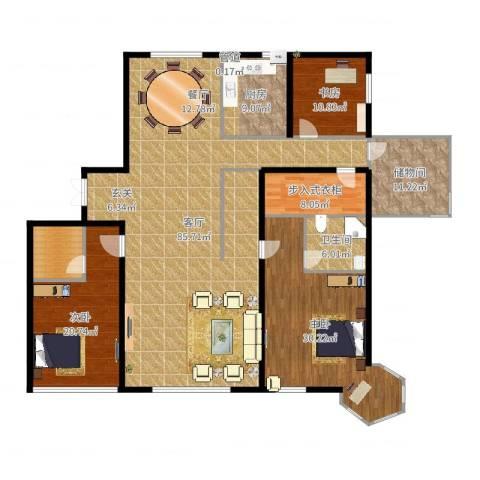 天誉国宝3室1厅1卫1厨234.00㎡户型图