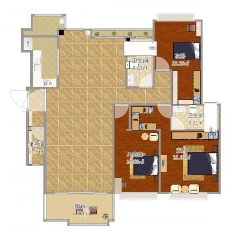 松湖花园4室1厅4卫1厨179.00㎡户型图