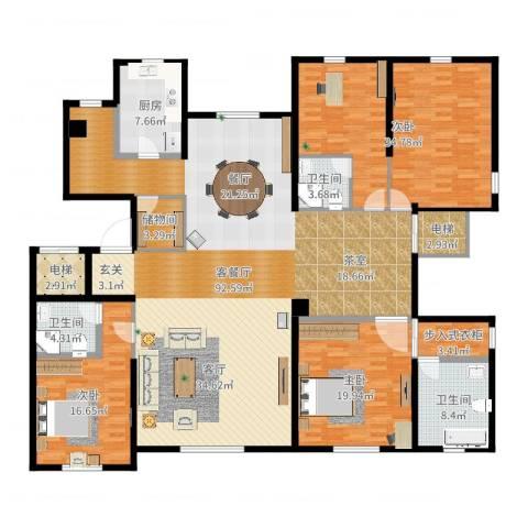 远洋天著3室2厅5卫1厨251.00㎡户型图