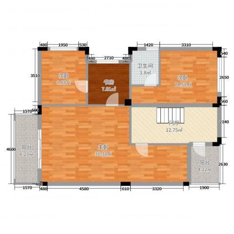 佛冈奥园温泉别墅4室0厅1卫0厨282.00㎡户型图