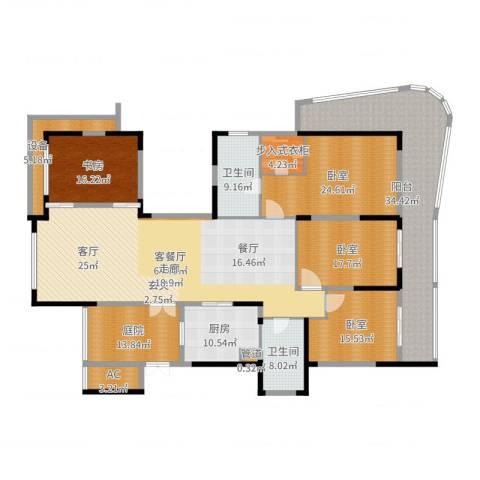 山水名家1室2厅2卫1厨284.00㎡户型图