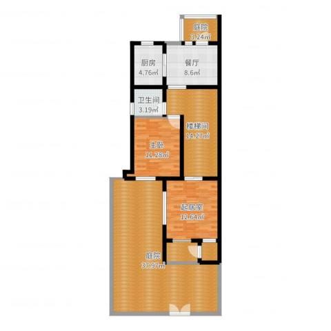 世茂・萨拉曼卡1室1厅1卫1厨125.00㎡户型图