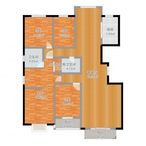 燕大星苑红树湾4室2厅2卫1厨229.00㎡户型图