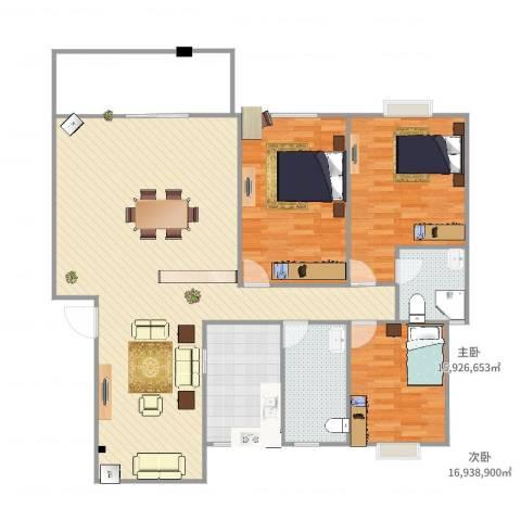 东江明珠39#1-4023室2厅2卫1厨151.00㎡户型图