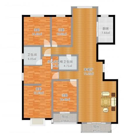 燕大星苑红树湾4室2厅2卫1厨215.00㎡户型图