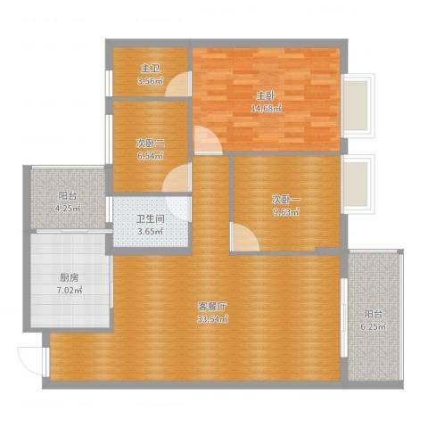 嘉逸园王先生1室2厅1卫1厨111.00㎡户型图