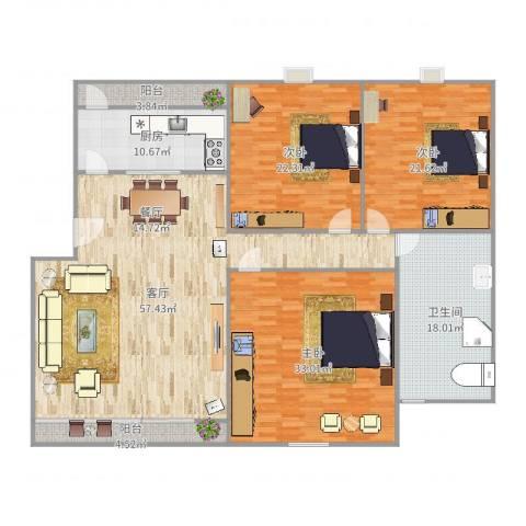 广珠花园41-1-5013室1厅1卫1厨214.00㎡户型图