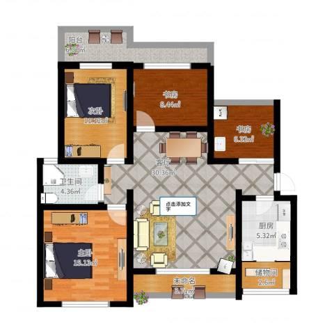 香格里拉小区4室1厅1卫1厨139.00㎡户型图