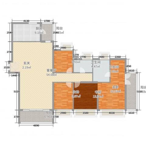 信和御园3室2厅2卫1厨178.00㎡户型图