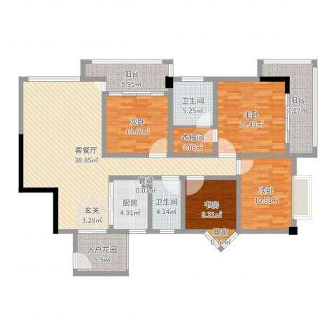 五洲康城4室2厅2卫1厨149.00㎡户型图