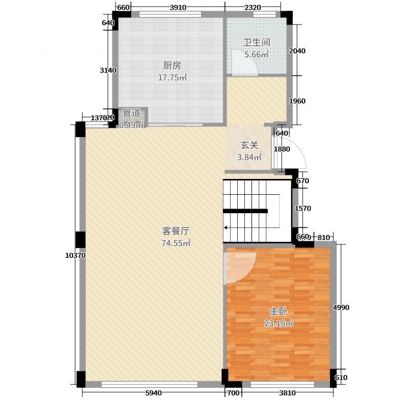 金地西溪风华152.00㎡一层户型4室4厅3卫1厨