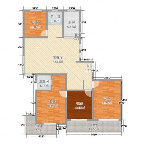 金色维也纳4室2厅2卫1厨179.00㎡户型图