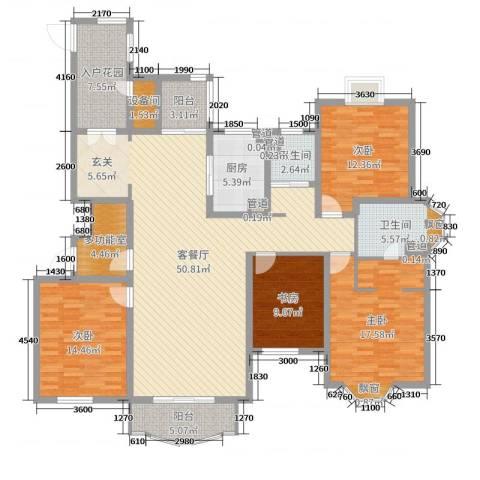 爱法山水国际4室2厅2卫1厨175.00㎡户型图