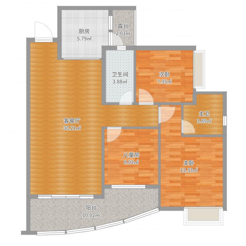 SSLJ-田园风格-东升京珠花园-优雅田园-设计师杜丙寅