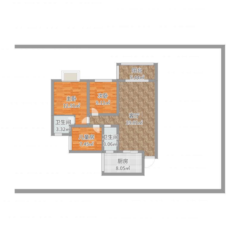 金山小区8-4-4室