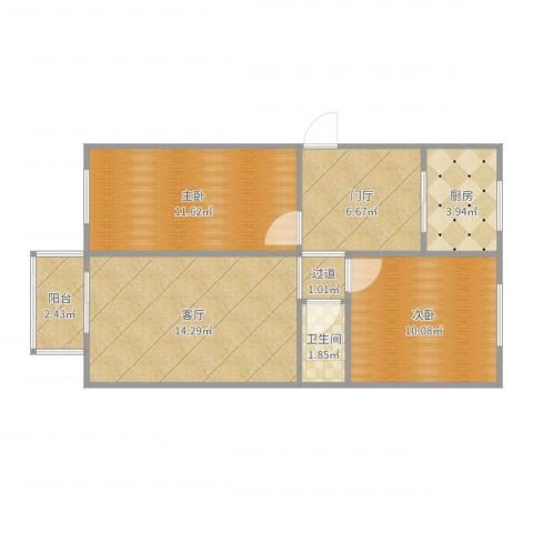 青年湖东里1--6-3012室1厅1卫1厨65.00㎡户型图