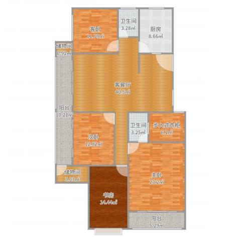 首尔・甜城MOBO国际中心4室2厅2卫1厨179.00㎡户型图