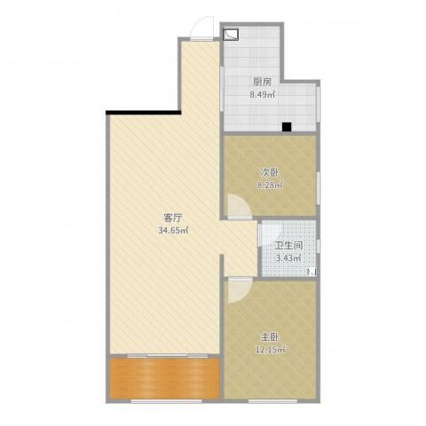 曲江千林郡2室1厅1卫1厨90.00㎡户型图