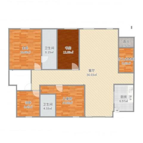 万科 朗润园4室1厅2卫1厨169.00㎡户型图