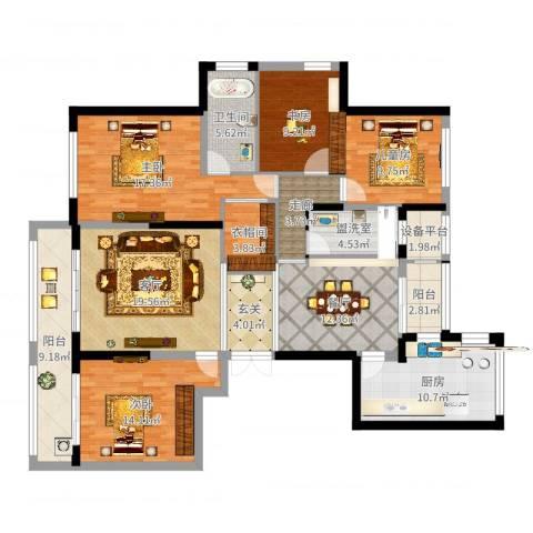联城水岸香榭4室4厅1卫1厨161.00㎡户型图