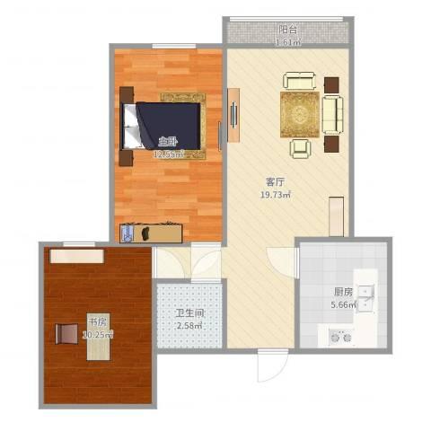 新华里12号2室1厅1卫1厨65.00㎡户型图