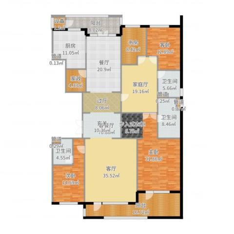 五矿万科·如园4室2厅3卫1厨273.00㎡户型图