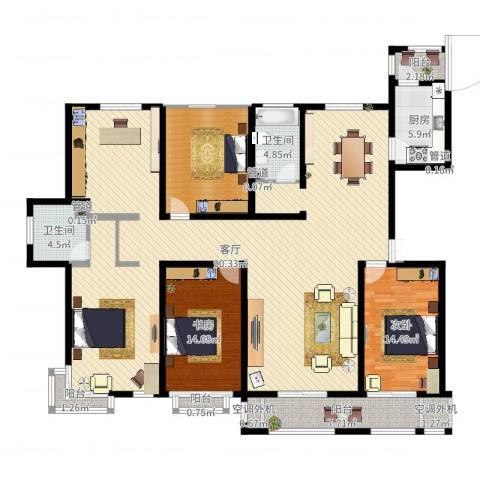 建投・御河新城3室1厅7卫1厨203.00㎡户型图