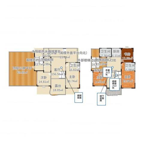 星辰花园5室1厅3卫1厨410.00㎡户型图