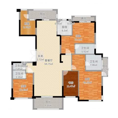 丰泰悦榕东岸4室2厅4卫1厨241.00㎡户型图