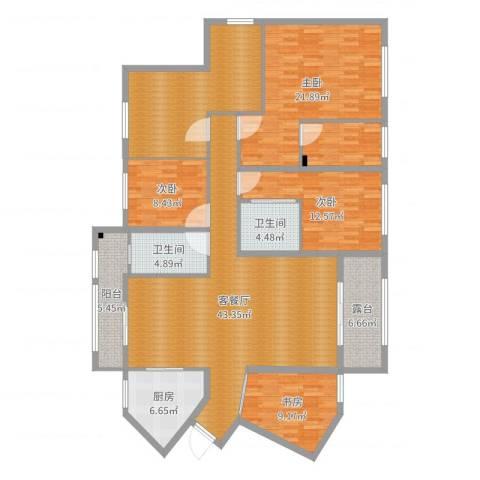 九州丽景苑4室2厅2卫1厨184.00㎡户型图